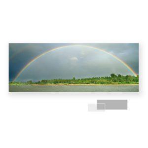 """Carte postale panoramique géanteSujet : Arc en ciel complet Cette carte """" postale """" est un format originale, faite pour être à cheval entre la carte postale et la petite photo a encadrer, ou afficher...Ce format d'enveloppe n'existe pas !"""